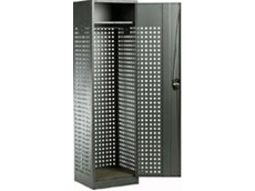 Single tier perforated locker