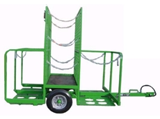 Single axle tilt tray trolley from Spacepac Industries