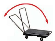 Triple Trolley with 3 different handle positions