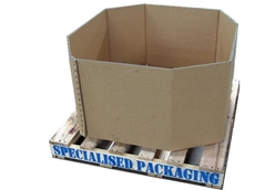 Cardboard octagonal produce bin