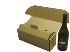Cardboard wine bottle mailer pack