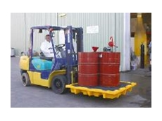 The Eagle 4 Drum Spill Containment Pallet.