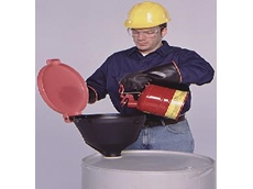 Ultra-burp-free funnel available from Spill Control Systems