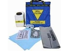 Battery acid spill response kit