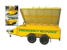 Emergency response trailer.