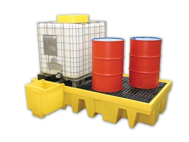 Double IBC spill containment units
