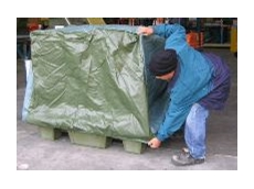 Spill pallet covers avoid problems.