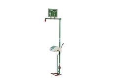 Self draining safety shower and eyewash unit