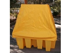 IBC spill containment unit with cover