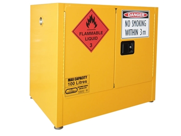 Flammable Storage Cabinets with Compliant Safety Signs