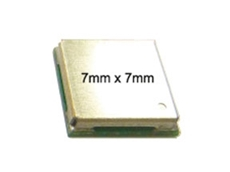 GPS + GLONASS module measures 7x7mm