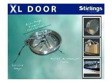 Stainless steel XL manway door
