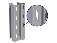 The unique diamond-slot profile of ColbyRACK provides a stronger and more efficient interlock between the upright and beam connectors
