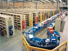 Enjoy significant savings in a large warehouse by automating some of the handling using conveyor systems