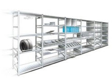 Metalsistem Super 123 boltless modular steel storage systems are ideal for light to medium duty applications