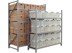 The longspan shelving system boasts both functionality and style