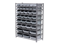 36 bin parts storage racks are ideal for the home, office or workshop
