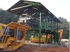 Striker supplied a conveyor system and over belt magnet, a jaw crusher and a screen to process the C&D waste material