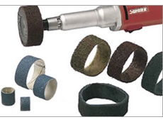 Abrasive spiral wound bands available from Suhner (Australia)