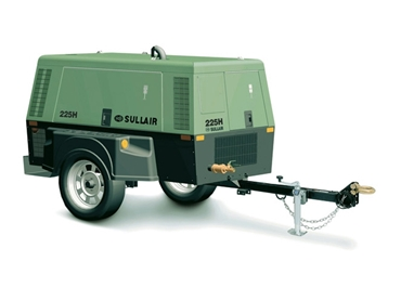 High Performance Sullair 225H Portable Diesel Compressor