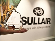 The Best Indoor Stand award presented to Sullair Australia at the recent Mining Australia Exhibition in Perth