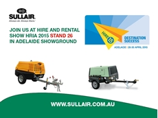 Sullair Australia will be showcasing their small portable air compressor during the HRIA exhibition