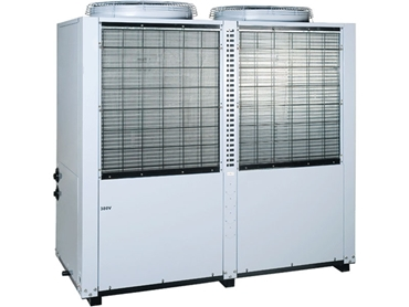 HVAC CHILLER-TAD is designed with a top air discharge and a twin circuit for sequential starting