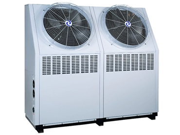 HVAC CHILLER-AAD is designed with a side air discharge and a twin circuit for sequential starting