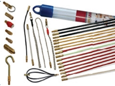 Super Rod cable installation products come with a range of attachments