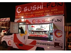 New concept of mobile sushi van