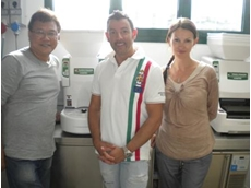 Sushi Machine Melvin, Mauro and Valeriya after training on ASM 600 CE and ASM860 CE