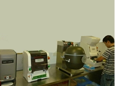 Full range of Autec sushi machines being installed in Yi Sushi in late December 2013
