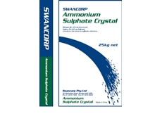 Swancorp's range of specialty fertilisers includes ammonium sulphate crystals