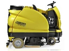 The BR/BD 100/250 R Ride-on Scrubber provides big power with a sensitive fine tuning touch.