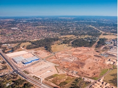 An aerial view of the Sydney Business Park