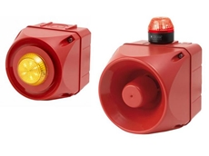 Multi-tone alarm sounders 'A' with LED light indicator