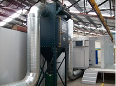 Sydney Metal Fabrications install a GS4 Camfil Farr dust collector at Dolphin Coatings