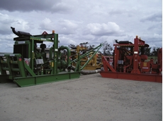 Colour coded Sykes HH220i high head skid based pumps at Queensland coal mine
