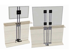 Ketterer flat screen lifts providing a brilliant storage solution