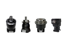 MIJNO low backlash planetary gearboxes: (L-R) Type MRP, Type MNT, Type BDB and Type MRA