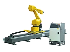With the linear axes of angle, the working space of a six-axis robot can be easily and effectively increased.