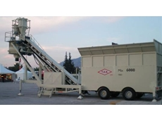The TEKMIX 6000 mobile concrete batching plant