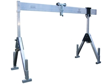 Feltes Portable Aluminium Gantry Cranes available from TC Hasemer