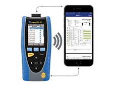 SignalTEK NT tester featuring the free IDEAL AnyWARE App allows users to view and share data cable and network test reports