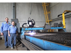 TW Woods Directors Tom and Glenn Woods with their plasma cutting plant