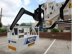 Tadano Mantis work platform-equipped crawler crane