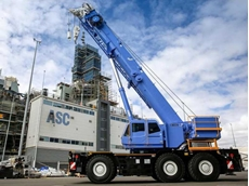 Tadano's first GR-1450EX crane is already in operation at the ASC site