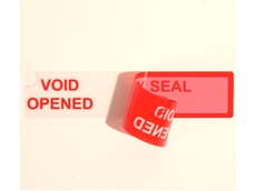 Information on security seals available from Tamper Evident.