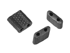 Rectangular lead seals can be engraved with company name or logo