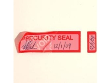 Tamper Evident seals and tapes
